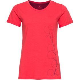 Triple2 Tuur Organic Cotton SS Jersey Women, hibiscus/leaves